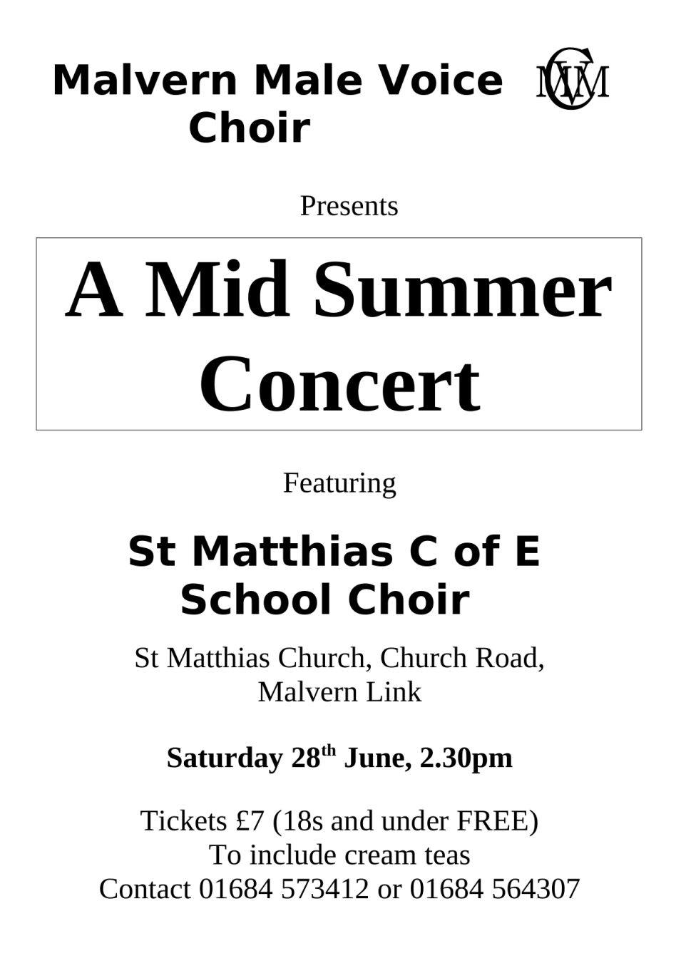 Midsummer Celebration with St Matthias C of E School Choir