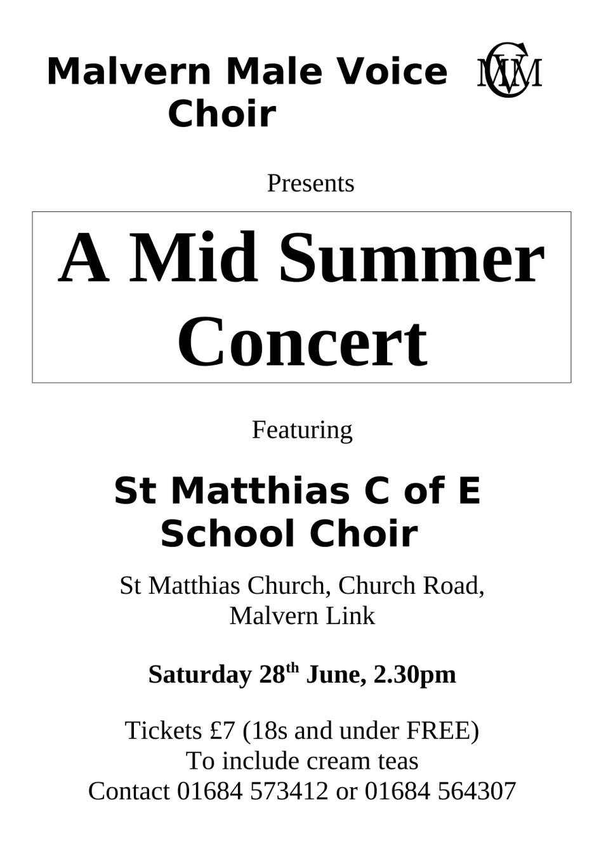 Midsummer Celebration with St Matthias C of E School Choir