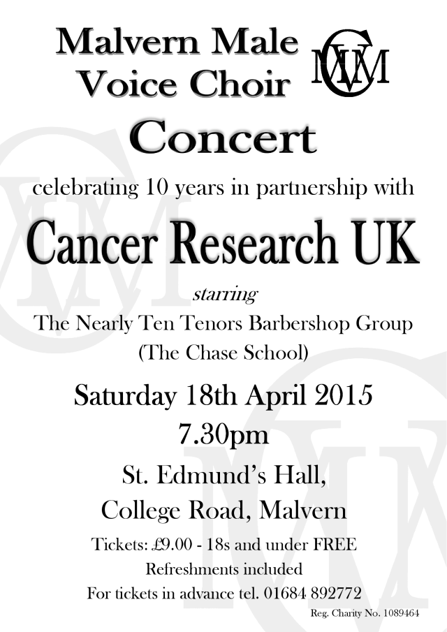 Our next concert - in only one week's time!